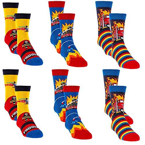 C&C KIDS Kinder Socken,6 Pack,31/34,Mehrfarbig2