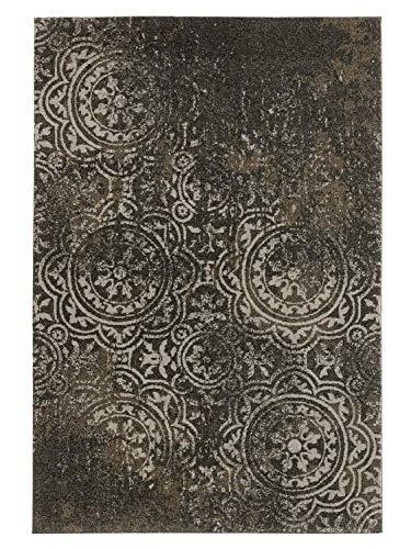 heine home Kleiner Teppich Flur Diele Esszimmer Uni antik Optik grau ca. 57x90 cm