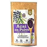 Açaí puro biologico in polvere 100 g, Pure Açaí Berry Organic Powder biologico, bacche di acido organico in polvere, 100% di polpa di acai, superalimento da coltivazione nativa dell'amazzonia (100g)