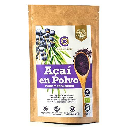 100% zuiver biologisch poeder, zuiver Açaii Berry Organic Powder, biologische acai-bessen, organisch akai-poeder, gemaakt van 100% acai-vruchtvlees, kweekvoer van eerste persing G)