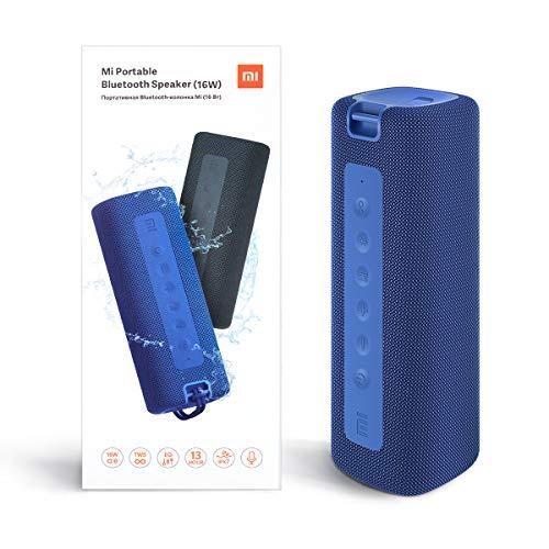 Xiaom i Altoparlante Bluetooth portatile Altoparlante Bluetooth senza fili, 16 W, IPX7 impermeabile per uso esterno, TWS, 13 ore di riproduzione, microfono integrato, antipolvere (Blu)