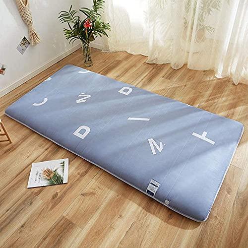 LIMIAO Dormitorio Estudiante Plegable Colchón Cama de Piso, Espeso 5cm Japonés Piso Colchón Futón Tatami Dormir Colchón (180x200cm),2s,150x200cm
