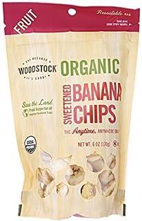 Woodstock Farms Banana Chips, Sweetened, Organic, 6-Ounce Bags (Pack of 8) ( Value Bulk Multi-pack)