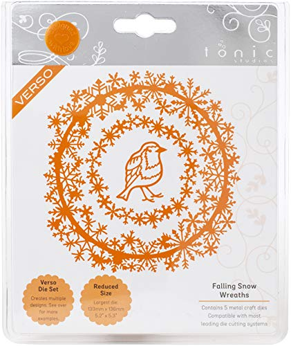 TONIC STUDIOS USA INC Tonic Studio DIE FALLG, Falling Snow Wreaths, One...