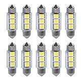 12 V 3 SMD 36 mm 5050 Bombillas LED de coche Festoon domo para coche interior luces bombillas mapa cúpula lámpara de cortesía maletero placa de matrícula salpicadero estacionamiento camper luces