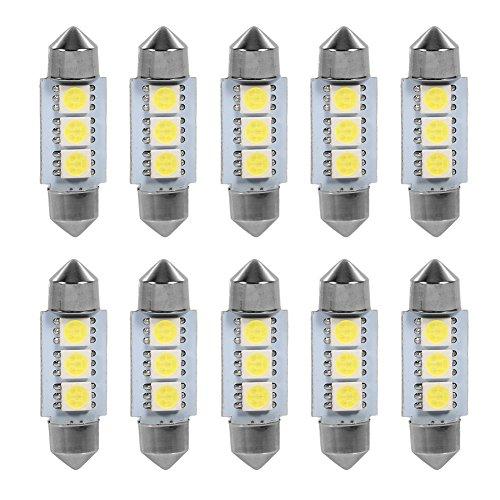 12 V 3 SMD 36 MM 5050 Coche LED Bombillas Festoon Domo para el interior del coche Bombillas Mapa Cúpula Lámpara Cortesía Tronco Placa Dashboard Parking Camper Luces