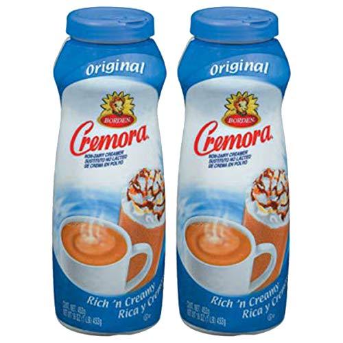 Borden Coffee Creamer Non-Dairy Powdered Cremora Original 16 oz. (Pack of 2)