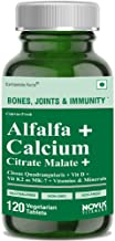 Carbamide Forte Alfalfa Calcium Citrate Malate 1200mg with Vitamin D3, B12, Mg & Zn (120 Tablets)