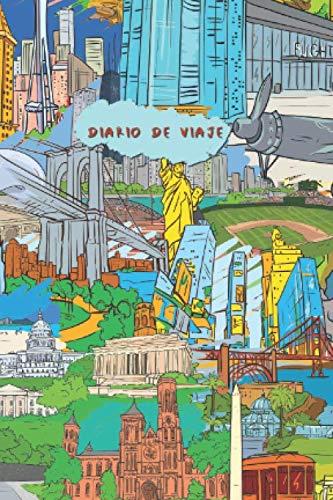 Diario de Viaje: Cuaderno compacto para registrar sus experiencias de viaje en los EE.UU. I 120 páginas forradas I Collage
