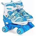 Xrzt Adjustable Roller Illuminating Skates with Light up Wheels