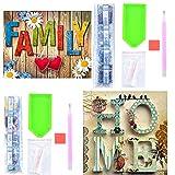 2 Piezas 5D Kits Pintura de Diamantes Completo, Diamantes de Punto de Cruz Artes Manualidades Cristal Bordado Pintura Imágenes por números para adultos Niños Regalos Decoración - Casa/Familiar
