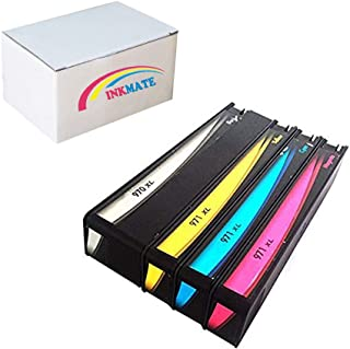 INKMATE 1 Set Pack Remanufactured Ink Cartridges for 970xl 970xl Work for Officejet Pro X451dn X451dw X476dn X476dw X551dw X576dw Printer