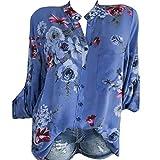 Blusa de manga larga para mujer, elegante, tallas grandes, d