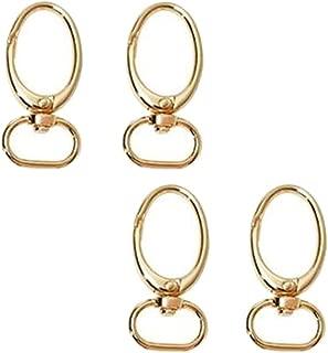 Prettyia 4Pcs/set Swivel Eye Lobster Snap Clasp Hook for Key Ring Purse Bag Strap 52mm Length