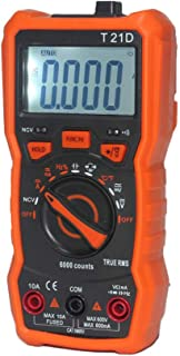 HELYZQ Multímetro digital T21D DC/CA voltímetro portátil de diodo NCV 6000 contagens