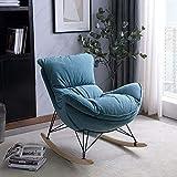 lxwi QQQ Einzelsofa Stuhl Balkon Liege Kleine Wohnung Lazy Wohnzimmer Home Schaukelstuhl Nordic Adult Leisure Easy Chair(Color:3)