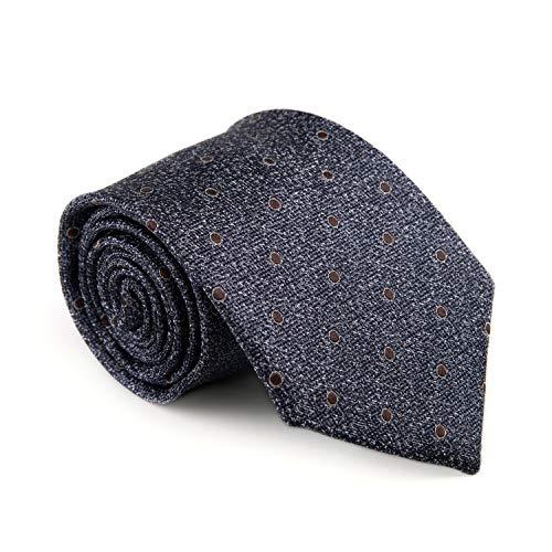 GENTSY  100% Seta Cravatte da Uomo Cucita a Mano Larghezza 8cm / 3.15' Classico Design (K73 blu)
