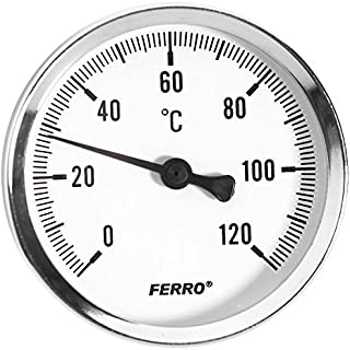 "Stevige metalen industriële temperatuurmeter sonde Bimetaal 1/2 ""80mm"