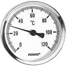 Indicador de temperatura Industrial de Metal sólido de sonda bimetálicas 1/2