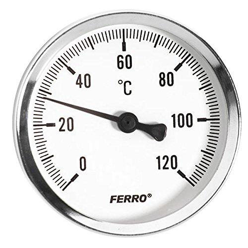 Sólido y de Metal Industrial termómetro esfera sonda bimetálicas 1/2