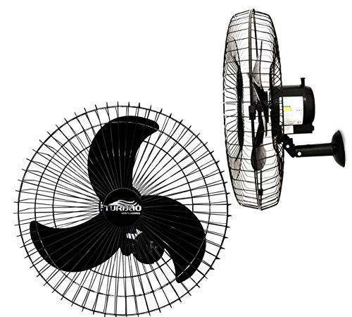 Ventilador de Parede Oscilante 60cm Preto Turbão 200W Bivolt - Kit 2 unidades