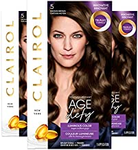 Clairol Age Defy Expert Collection Permanent Hair Color Kit, 5 Medium Brown (Pack of 3) (Packaging May Vary)