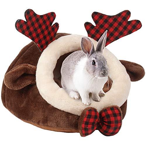 URIJK Nido de casa para animales pequeños, acogedor y cálido, de algodón,...