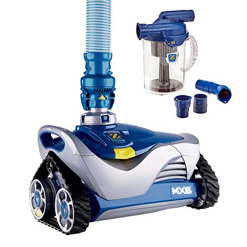 Find Discount Zodiac Mx6 Automatic Suction Side Pool Cleaner Vacuum with Zodiac Cyclonic Leaf Canist...