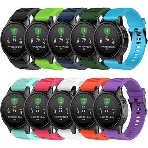 Band for Garmin Fenix 5S / Fenix 6S, Soft Silicone Replacement Watch Band Strap for Garmin Fenix 5S/Fenix 5S Plus/Fenix 6S/Fenix 6S Pro Smart Watch, Fit 5.31 inches-8.46 inches