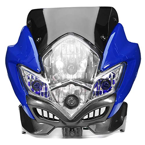 MXBIN Universal-Motorrad Dirt Bike Street Fighter Scheinwerfer-Lampe Fahrrad-Verkleidungs Werkzeugzubehör (Color : Red)