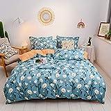 AMDXD Juego de 4 fundas de almohada, funda de edredón, sábana y funda de almohada (150 x 200 cm, 1 sábana de 200 x 230 cm, 2 fundas de almohada de 48 x 74 cm)