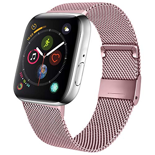 Mugust Correa de metal compatible con Apple Watch, correa de
