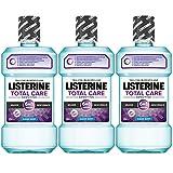 Listerine Total Care Sensitiv Mundspülung, 6in1 Mundwasser, antibakteriell und für schmerzempfindliche Zähne (3 x 500 ml)