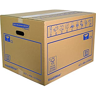 Bankers Box 45.7 x 40.6 x 61 cm Smooth Move Double Walled Moving Box (Pack of 10):Iracematravel