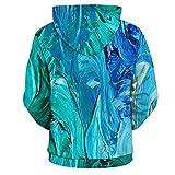 XIN Painting Print Zipper Hoodies for Women Men Hooded Sweatshirts 3D Sweatshirt Men Fashion Cool Tops Blouses Tracksuits,* L
