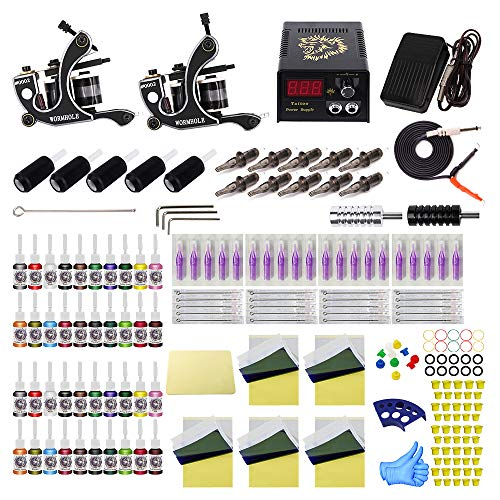 Wormhole Tattoo Komplett Starter Tattoo Maschine Set Tattoo Kit mit 2 Tattoo Maschinen (TK1000088)