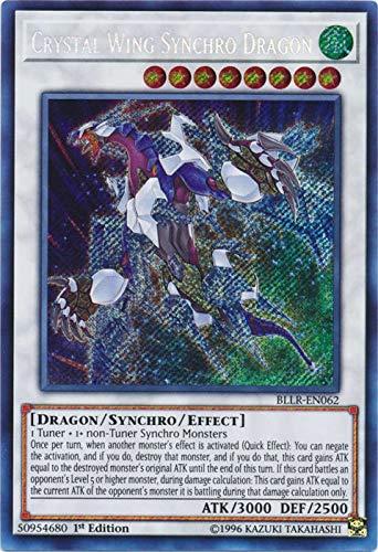 Yu-Gi-Oh! - Crystal Wing Synchro Dragon - BLLR-EN062 - Secret Rare - 1st Edition - Battles of Legend: Light's Revenge