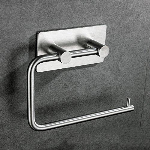 Eeayyygch Toilettenpapierhalter 304 Edelstahl-Wickeltuch-Ziehgummi, der frei von Kraft hält