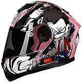 ZHXH Casco da moto per adulti, casco integrale unisex modulare quattro stagioni, in linea con certificazione Dot e standard Ece