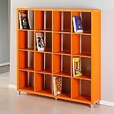 Kit Closet Estantería 'Kubox' 16 huecos naranja