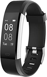 Fitness Tracker,YAMAY Activity Tracker Heart Rate Monitor Waterproof IP67 Fitness Tracker Watch with Sleep Monitor Pedomet...