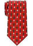 Retreez Herren Gewebte Weihnachten Krawatte Weihnachtsbaum 8 cm - rot,
