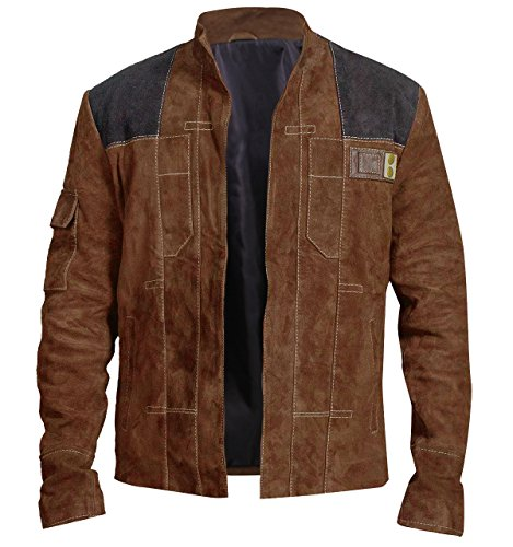 CHICAGO-FASHIONS Star Hero Wars Suede Leather Han Space Warrior Solo Jacket