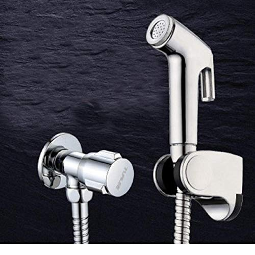 Pistola de pulverización de alta presión de ABS con base de manguera, bidé, ducha, juego de pulverizador de bidé de mano-C4 para lavado femenino de limpiador de y rociador Higiene personal