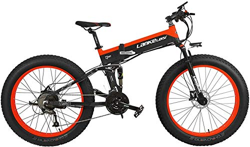 For Sale! Xiaochongshan 1000W Foldable Electric Bicycle Speed 27 26 4.0 5 PAS Fat Bicycle Hydraulic ...