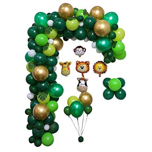 Suading Kit de globos para fiesta de cumpleaños de fiesta de la selva para fiestas hawaianas