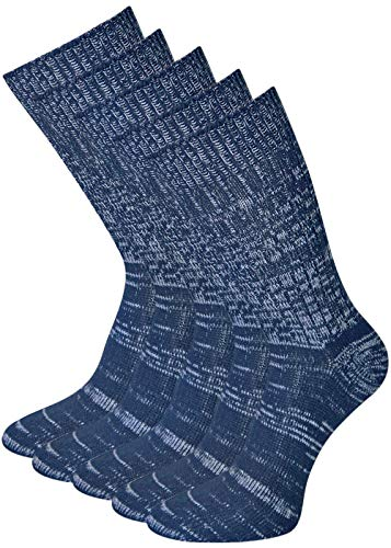 5 Paar original Herren Jeanssocken blaumeliert Baumwolle 43-46, Blaumeliert