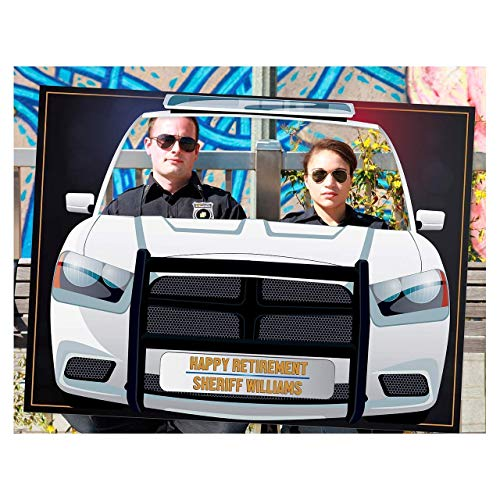 Police Car Photo Booth Frame Props, Police Car Decor, Police Party Theme, Retirement Photo Booth Frame, Police Birthday Party, Gifts Ideas, Handmade DIY Party Supply Photo Booth Size 36x24,48x36