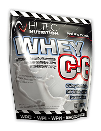 Hi Tec Nutrition-Whey C6 1000g*Hydrolisate*Isolate*Concentrate * Whey Protein *BCAA.