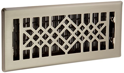 Decor Grates ARH410-NKL Arrow Plated Floor Register, 4-Inch by 10-Inch, Nickel